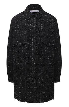 Женская рубашка IRO черного цвета, арт. WP100MINK0 | Фото 1