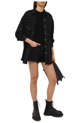 Женская рубашка IRO черного цвета, арт. WP100MINK0 | Фото 2