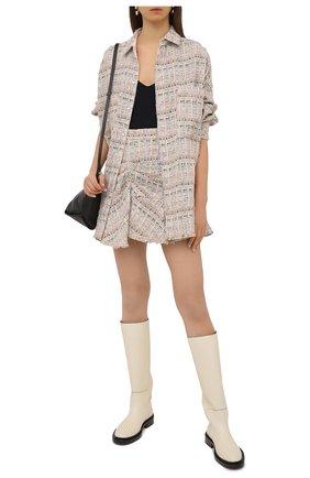 Женская юбка из хлопка и вискозы IRO бежевого цвета, арт. WP31SIBELA | Фото 2