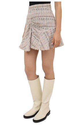 Женская юбка из хлопка и вискозы IRO бежевого цвета, арт. WP31SIBELA | Фото 3