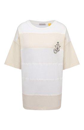 Женская футболка 1 moncler jw anderson MONCLER GENIUS светло-бежевого цвета, арт. G1-09E-8C000-09-M1163 | Фото 1