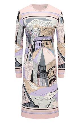 Женское платье из вискозы и шелка EMILIO PUCCI фиолетового цвета, арт. 1EJG80/1E727 | Фото 1
