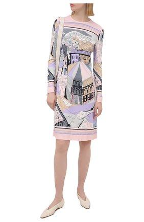 Женское платье из вискозы и шелка EMILIO PUCCI фиолетового цвета, арт. 1EJG80/1E727 | Фото 2