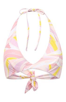 Женский треугольный бра EMILIO PUCCI розового цвета, арт. 1EMX01/1E797 | Фото 1