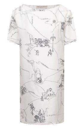 Женское шелковое платье EMILIO PUCCI белого цвета, арт. 1ERG01/1E741 | Фото 1