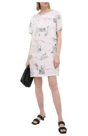 Женское шелковое платье EMILIO PUCCI белого цвета, арт. 1ERG01/1E741 | Фото 2