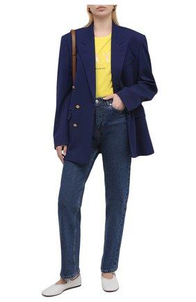 Женская хлопковая футболка EMILIO PUCCI желтого цвета, арт. 1ETP73/1E987 | Фото 2