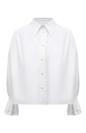 Женская хлопковая рубашка KHAITE белого цвета, арт. 2160109/VANINA | Фото 1