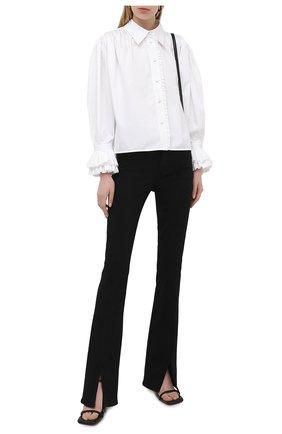 Женская хлопковая рубашка KHAITE белого цвета, арт. 2160109/VANINA | Фото 2