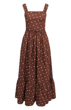 Женское хлопковое платье TAK.ORI коричневого цвета, арт. DRT82038C0100SS21 | Фото 1