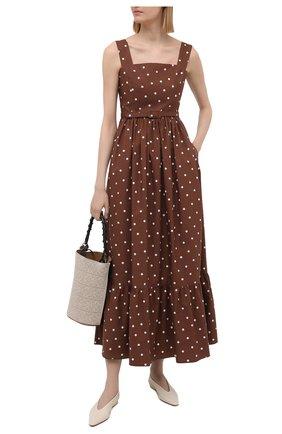 Женское хлопковое платье TAK.ORI коричневого цвета, арт. DRT82038C0100SS21 | Фото 2
