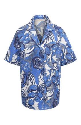 Женская хлопковая рубашка TAK.ORI голубого цвета, арт. JKT82027C0100SS21 | Фото 1
