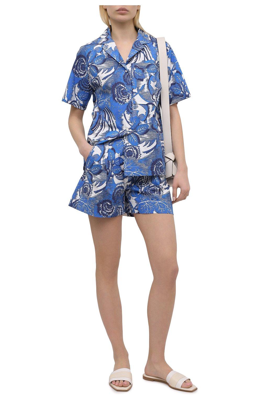 Женские хлопковые шорты TAK.ORI голубого цвета, арт. PTT82031C0100SS21 | Фото 2