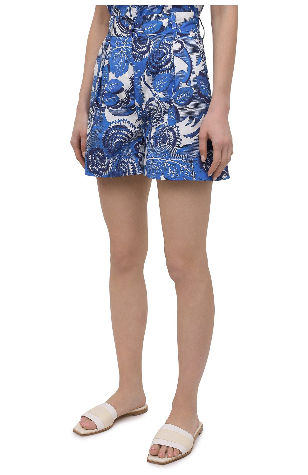 Женские хлопковые шорты TAK.ORI голубого цвета, арт. PTT82031C0100SS21 | Фото 3