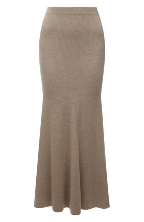Женская шерстяная юбка NANUSHKA бежевого цвета, арт. ALINA_BEIGE_MELANGE W00L KNIT | Фото 1