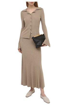 Женская шерстяная юбка NANUSHKA бежевого цвета, арт. ALINA_BEIGE_MELANGE W00L KNIT | Фото 2