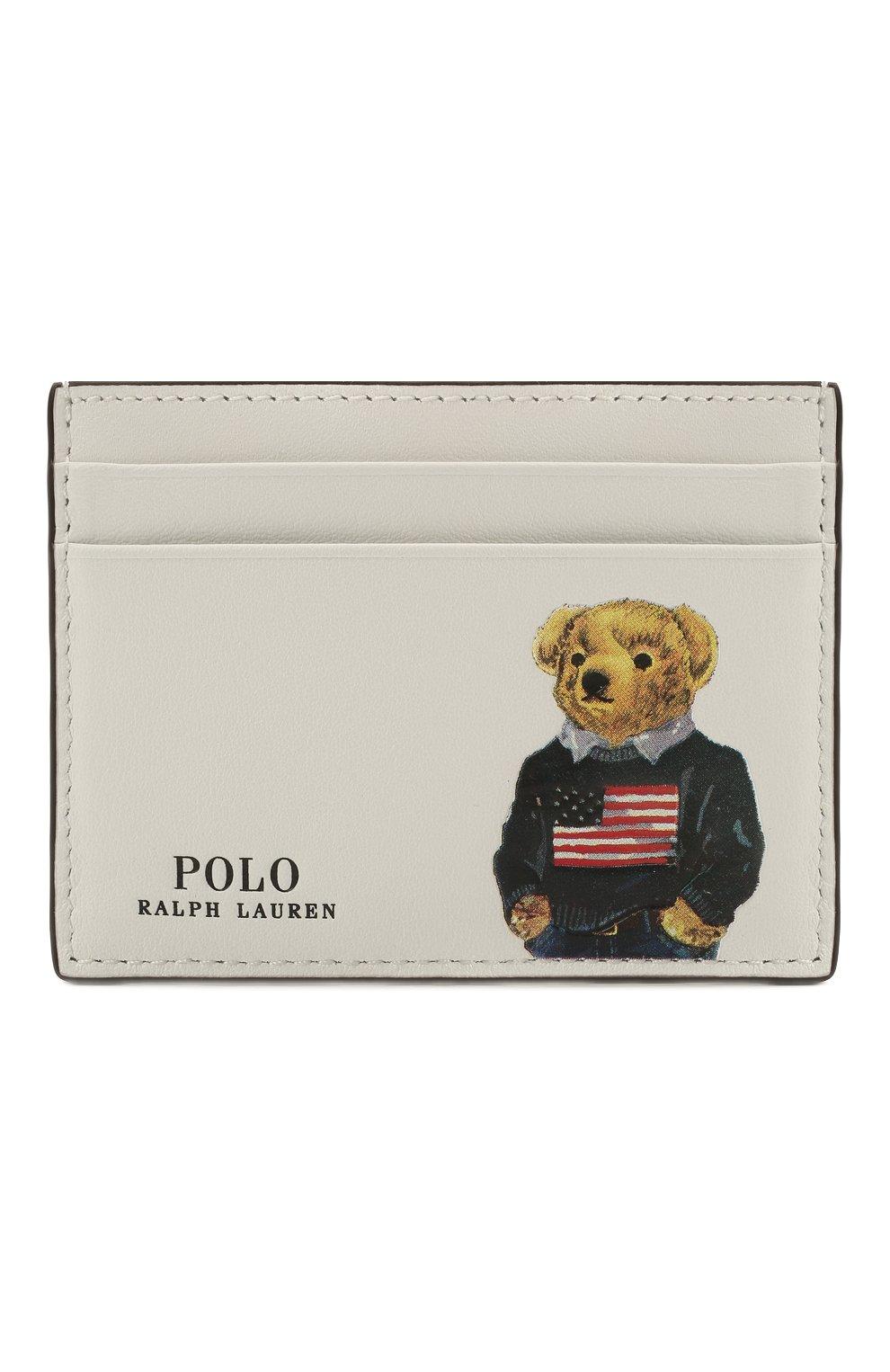 Женский кожаный футляр для кредитный карт POLO RALPH LAUREN белого цвета, арт. 427828896 | Фото 1