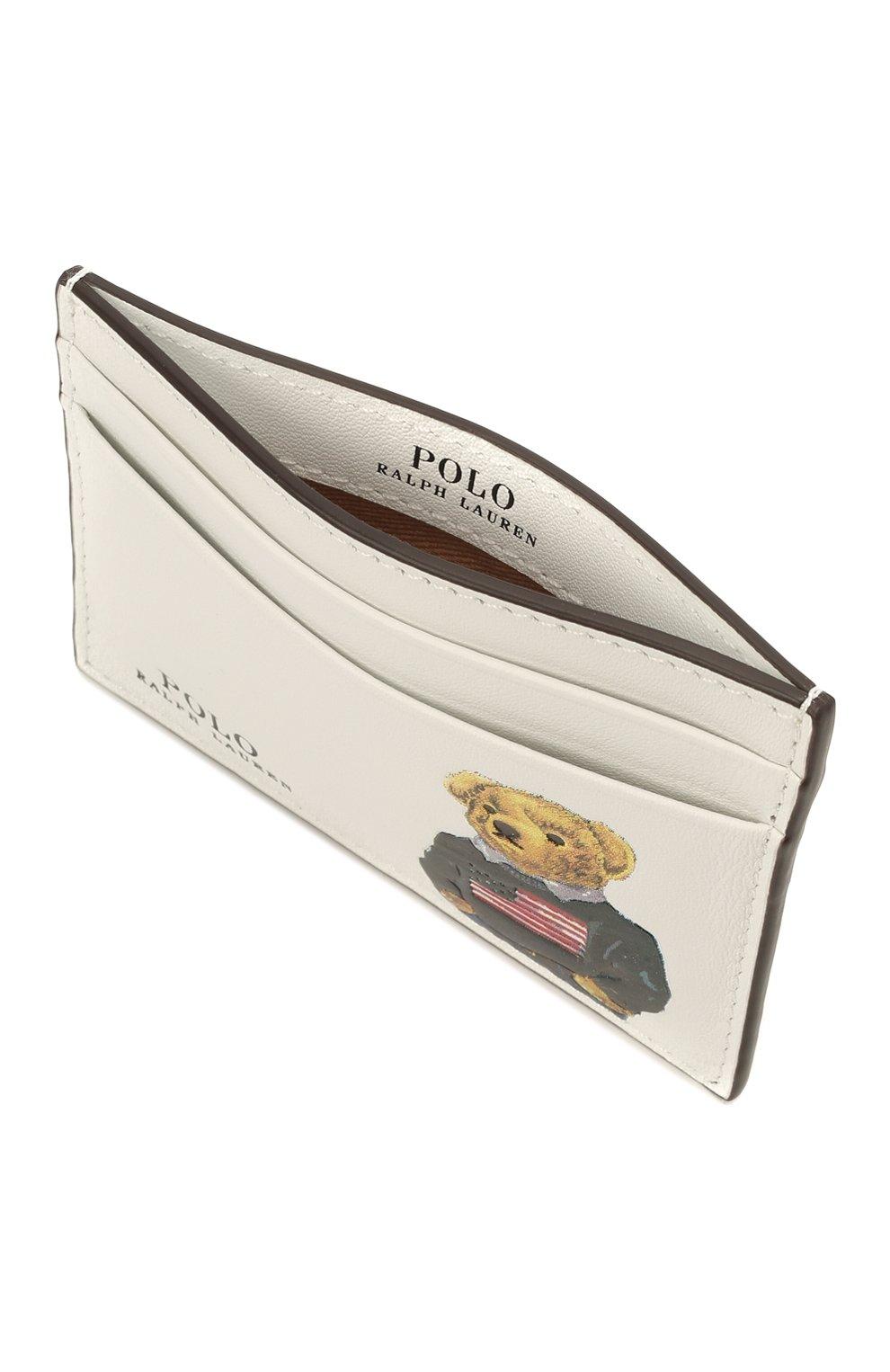 Женский кожаный футляр для кредитный карт POLO RALPH LAUREN белого цвета, арт. 427828896 | Фото 3