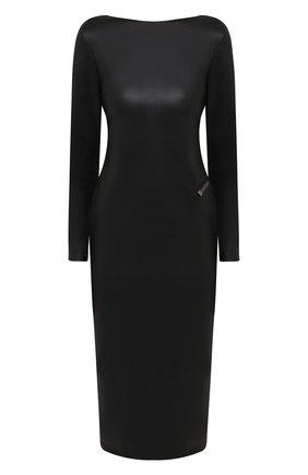 Женское платье из экокожи TOM FORD черного цвета, арт. ABV001-LEV001 | Фото 1