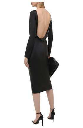 Женское платье из экокожи TOM FORD черного цвета, арт. ABV001-LEV001 | Фото 2