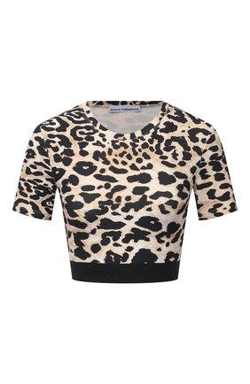 Женский топ из вискозы PACO RABANNE леопардового цвета, арт. 21PJT0002VI0200 | Фото 1