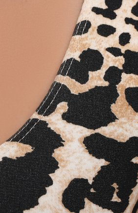 Женский топ из вискозы PACO RABANNE леопардового цвета, арт. 21PJT0001VI0200 | Фото 5