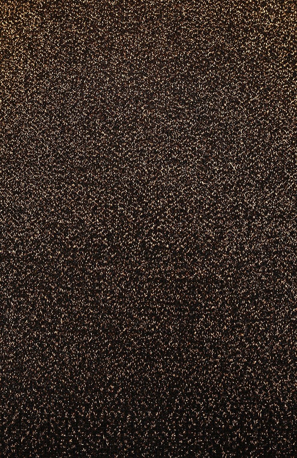 Женское платье PACO RABANNE бронзового цвета, арт. 21PMR0317ML0065 | Фото 5 (Рукава: Длинные; Стили: Гламурный; Случай: Вечерний; Материал внешний: Синтетический материал, Вискоза; Кросс-КТ: Трикотаж; Длина Ж (юбки, платья, шорты): Макси; Женское Кросс-КТ: Платье-одежда)