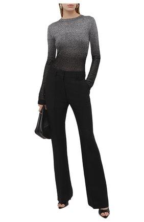 Женский пуловер PACO RABANNE серебряного цвета, арт. 21PMPU096ML0065 | Фото 2