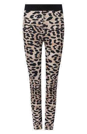 Женские леггинсы из вискозы PACO RABANNE леопардового цвета, арт. 21PJPA001VI0200 | Фото 1
