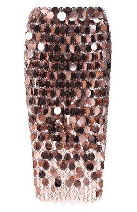 Женская юбка PACO RABANNE розового цвета, арт. 21PIJU195PS0138 | Фото 1