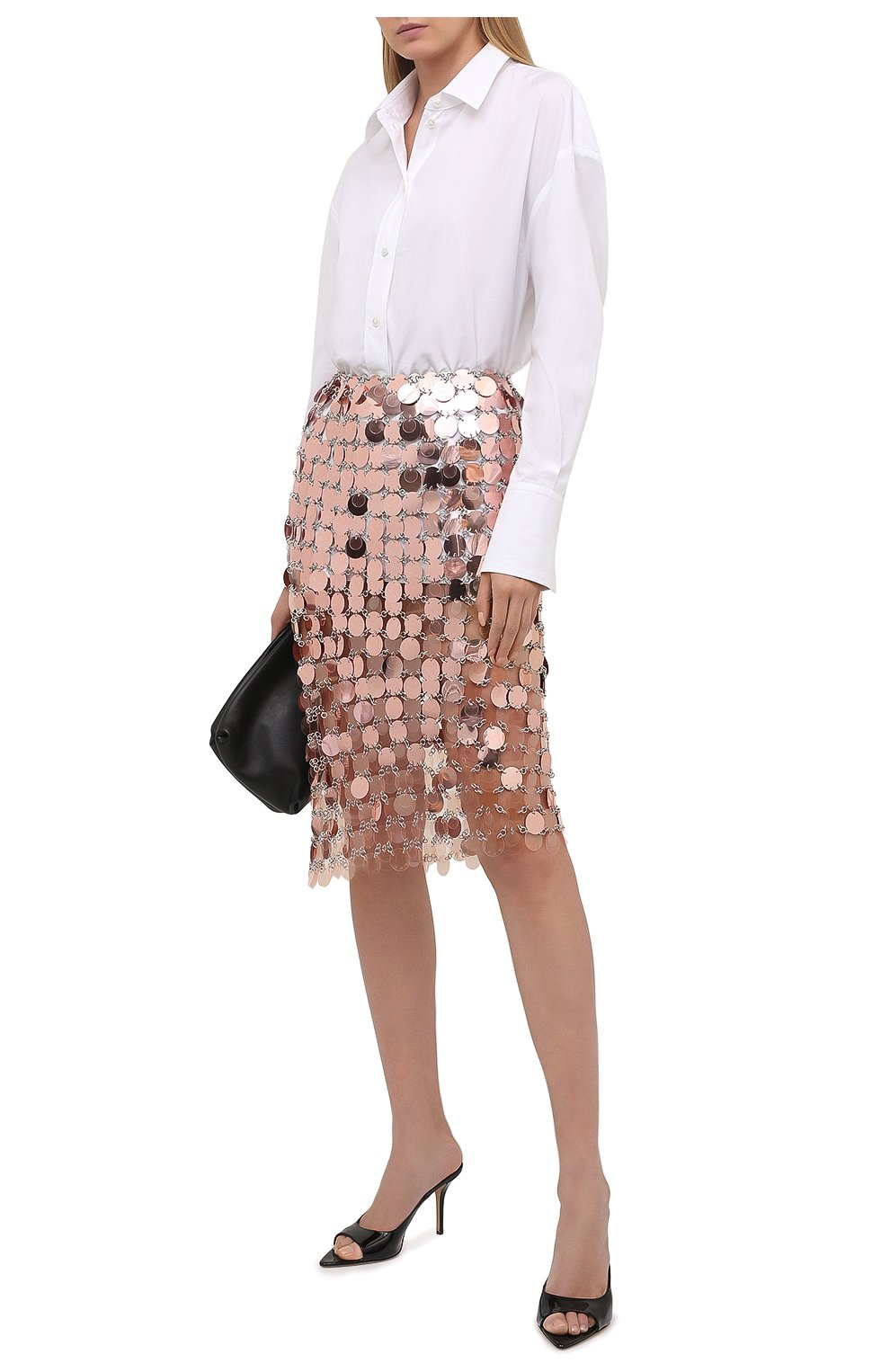 Женская юбка PACO RABANNE розового цвета, арт. 21PIJU195PS0138   Фото 2
