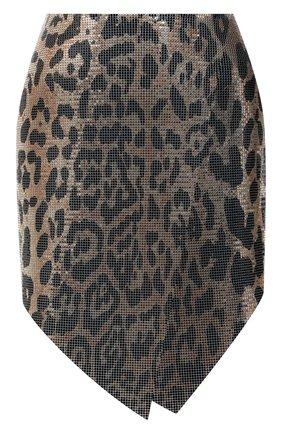 Женская юбка PACO RABANNE леопардового цвета, арт. 21EIJU091MH0081 | Фото 1