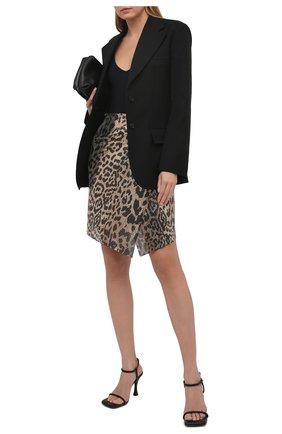 Женская юбка PACO RABANNE леопардового цвета, арт. 21EIJU091MH0081 | Фото 2