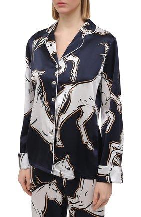 Женская шелковая пижама OLIVIA VON HALLE синего цвета, арт. SS2103 | Фото 2