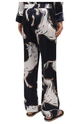 Женская шелковая пижама OLIVIA VON HALLE синего цвета, арт. SS2103   Фото 5