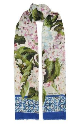 Женский шарф DOLCE & GABBANA голубого цвета, арт. FS184A/G3SD4   Фото 1