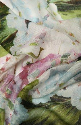 Женский шарф DOLCE & GABBANA голубого цвета, арт. FS184A/G3SD4   Фото 2