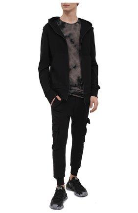 Мужская хлопковая футболка MASNADA темно-серого цвета, арт. M2672   Фото 2
