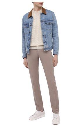 Мужские брюки KITON бежевого цвета, арт. UPNJSJ07T45 | Фото 2