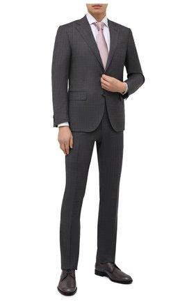 Мужская хлопковая сорочка CORNELIANI белого цвета, арт. 87P156-1111269/00 | Фото 2 (Материал внешний: Хлопок; Длина (для топов): Стандартные; Случай: Формальный; Рубашки М: Slim Fit; Стили: Классический; Воротник: Акула; Рукава: Длинные; Принт: Однотонные; Манжеты: На пуговицах)