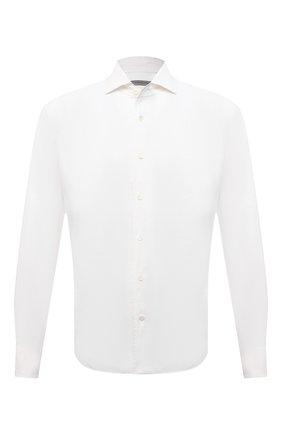 Мужская льняная рубашка CORNELIANI белого цвета, арт. 87P126-1111912/00 | Фото 1