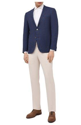 Мужская льняная рубашка CORNELIANI белого цвета, арт. 87P126-1111912/00 | Фото 2