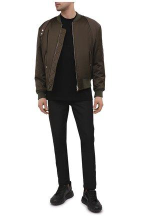 Мужские брюки RICK OWENS черного цвета, арт. RU21S6393/TS | Фото 2