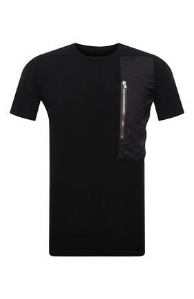 Мужская хлопковая футболка RICK OWENS черного цвета, арт. RU21S6260/JAND | Фото 1