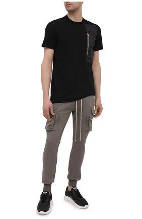 Мужская хлопковая футболка RICK OWENS черного цвета, арт. RU21S6260/JAND | Фото 2