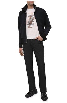 Мужские джинсы ZILLI черного цвета, арт. MCV-00030-ULBK1/R001 | Фото 2