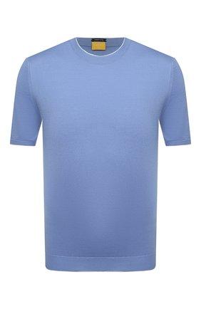 Мужской хлопковый джемпер SVEVO голубого цвета, арт. 4650/3SE21/MP46 | Фото 1