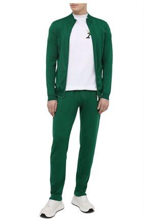 Мужской хлопковый кардиган SVEVO зеленого цвета, арт. 46509SE21/MP46 | Фото 2