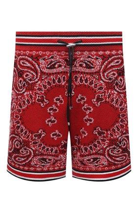 Мужские шорты из хлопка и кашемира AMIRI красного цвета, арт. MKB001-610   Фото 1