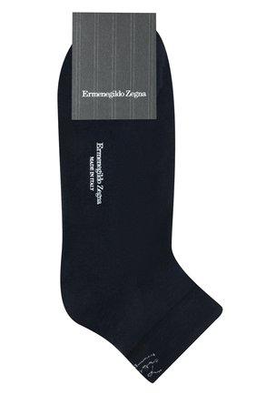 Мужские хлопковые носки ERMENEGILDO ZEGNA синего цвета, арт. N5V024060 | Фото 1
